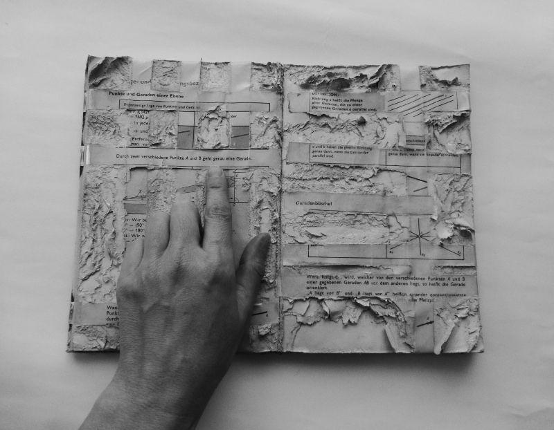 https://flic.kr/p/r4dSrh | knowledge, sedimented | altered textbook  Wissen, abgelagert. verändertes Lehrbuch