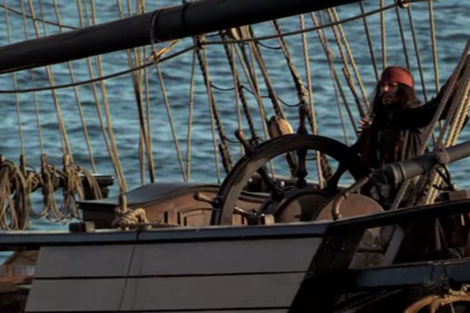 """Locked in his little cell at Port Royal, Captain Jack Sparrow makes an agreement to the lovely Will Turner.  """" Well Mr. Turner, I've change..."""