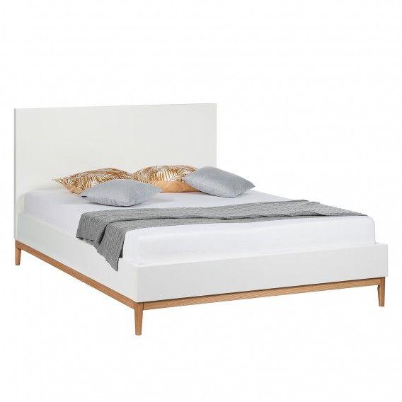 Bett Lindholm I Bett, Bett 140x200 weiß und Bett 160x200