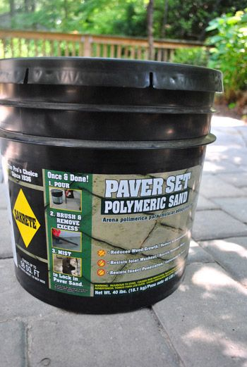 How To Use Polymeric Sand To Block Weeds In Our Paver Patio