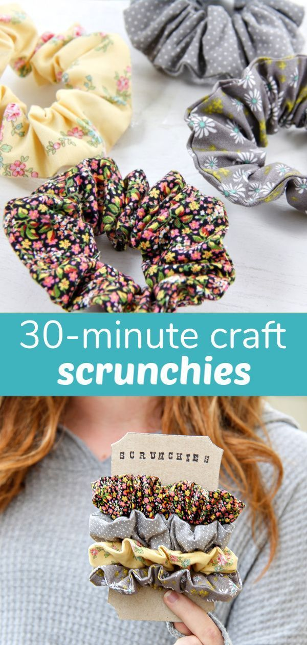 Photo of 30-Minute Craft: Handmade Scrunchies | Make and Takes