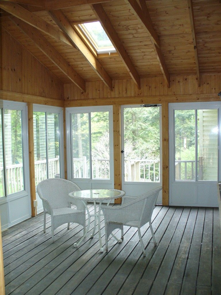 Screen Porch Enclosure With Harvey Aluminum Panel System