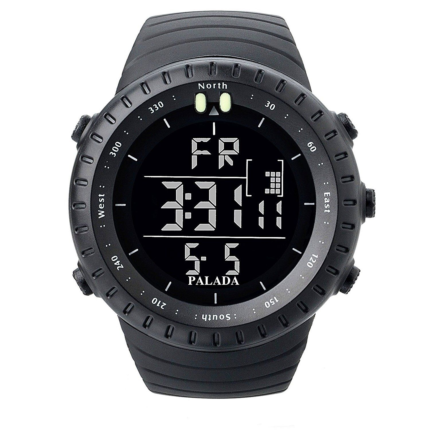 Gifts for Cyclists PALADA Men's Sports Digital Wrist