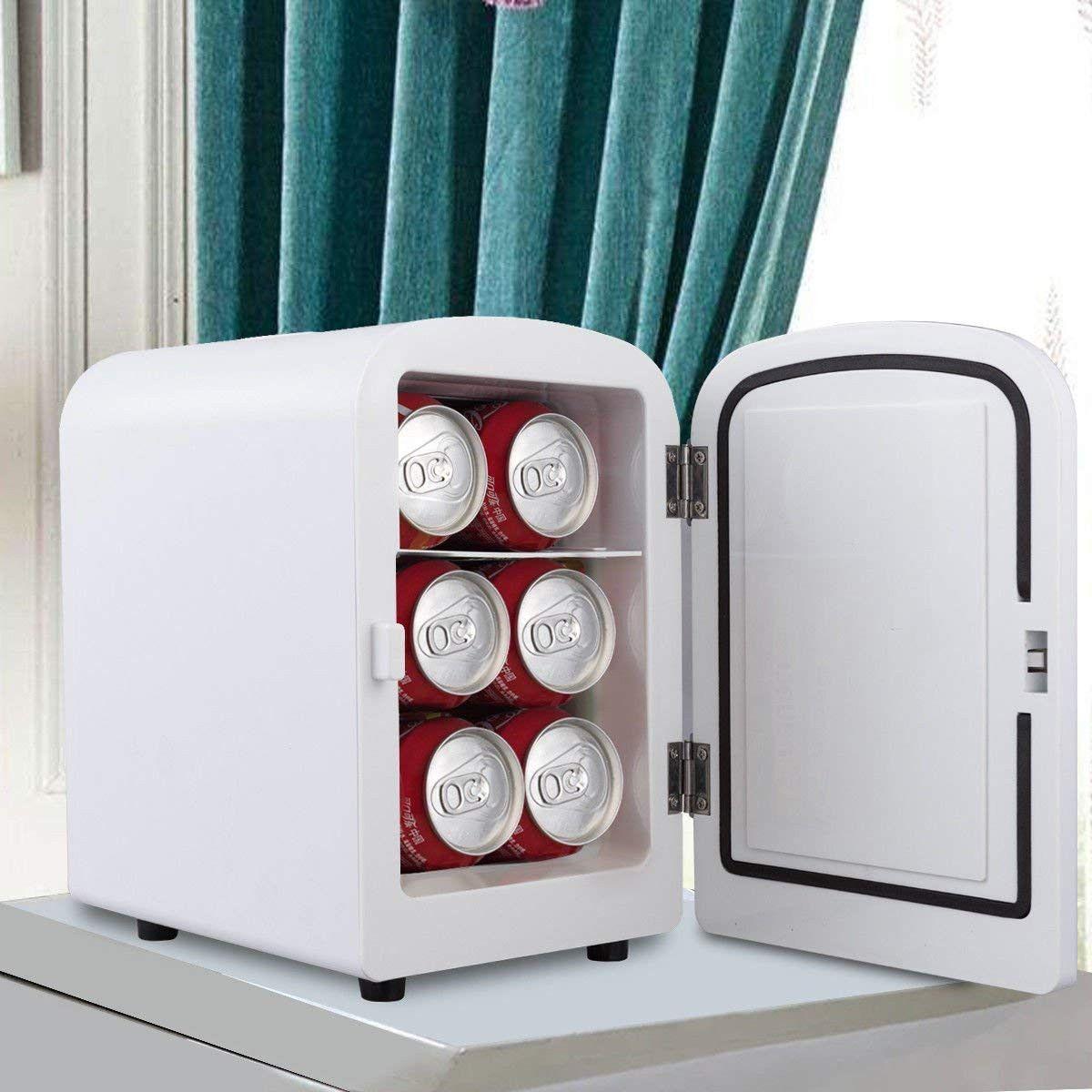 Giantex 4l Mini Fridge Portable Cooler And Warmer Home Office Portable Mini Fridge Mini Fridge Cool Mini Fridge
