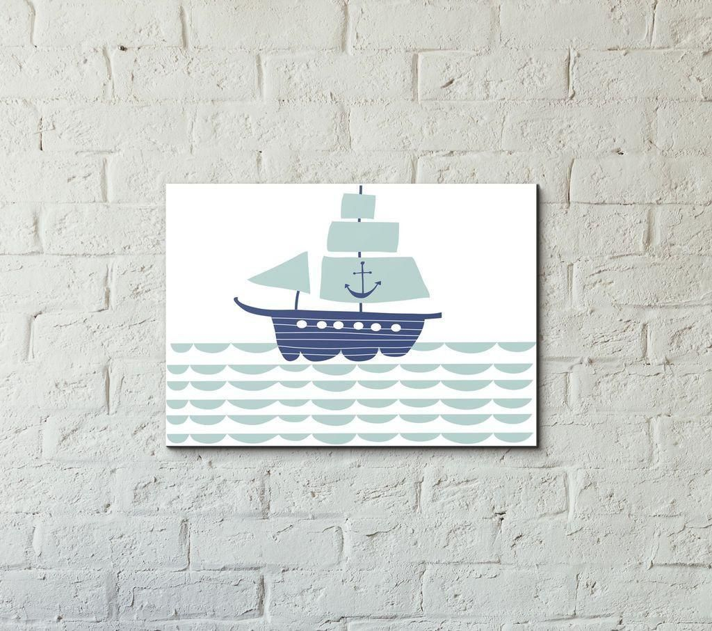 Playful ship at sail