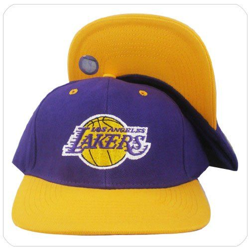 brand new 35f1e 7bde7 NBA Adidas Los Angeles Lakers purple yellow vintage snapback hat cap one  size adjustable This Vintage