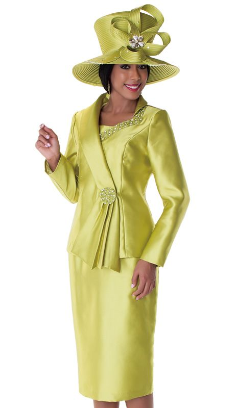 8f407650 Tally Taylor 4551-OL ( 3pc Ladies Church Suit With Rhinestone And Mini  Flower Embellishment