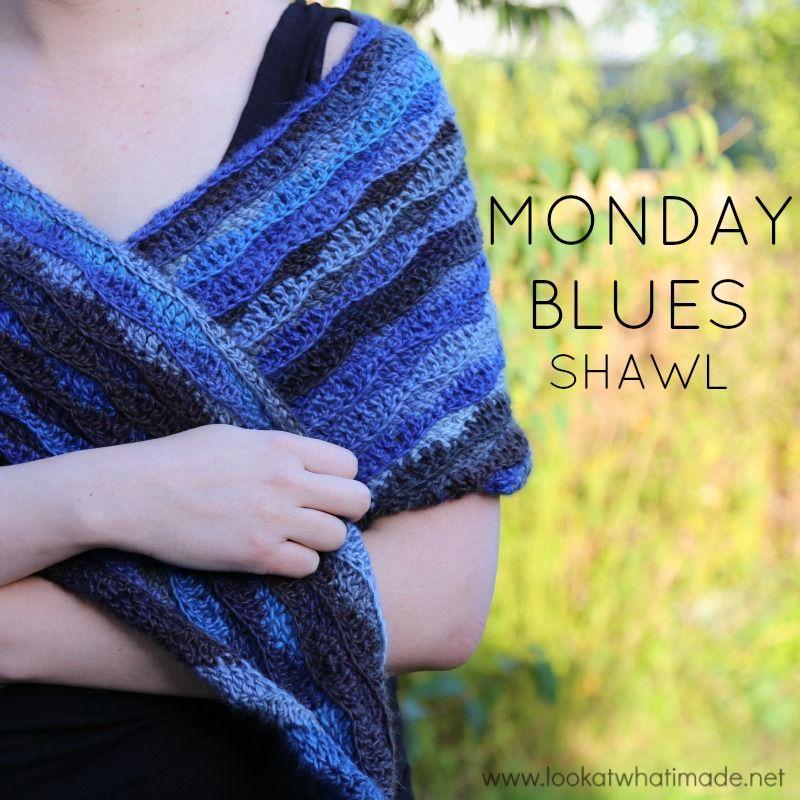 Monday Blues Shawl – A Free Crochet Shawl Pattern | SHAWLS ...