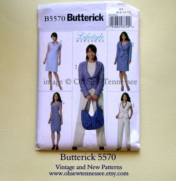 Lifestyle Wardrobe for Ladies  Butterick 5570  by ohsewtennessee, $6.00