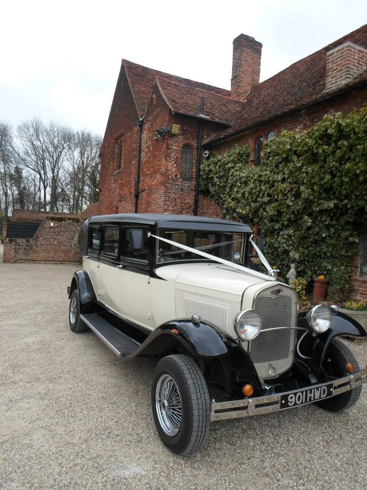 Lovely vintage wedding car at Leez Priory Wedding Venue | Wedding ...