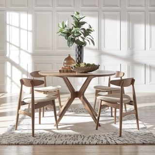 Curved Back Dining Room Chairs Amazing Nadine Walnut Finish Round Dining Set  Curved Back Chairs Design Inspiration