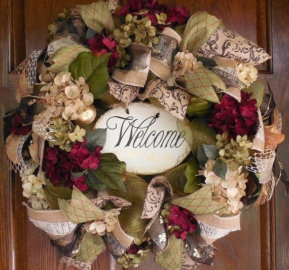 Year Round Wreath, Elegant Wreath, Spring Mesh Wreath, Welcome, Spring  Floral,