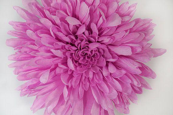 8 crepe paper chrysanthemum