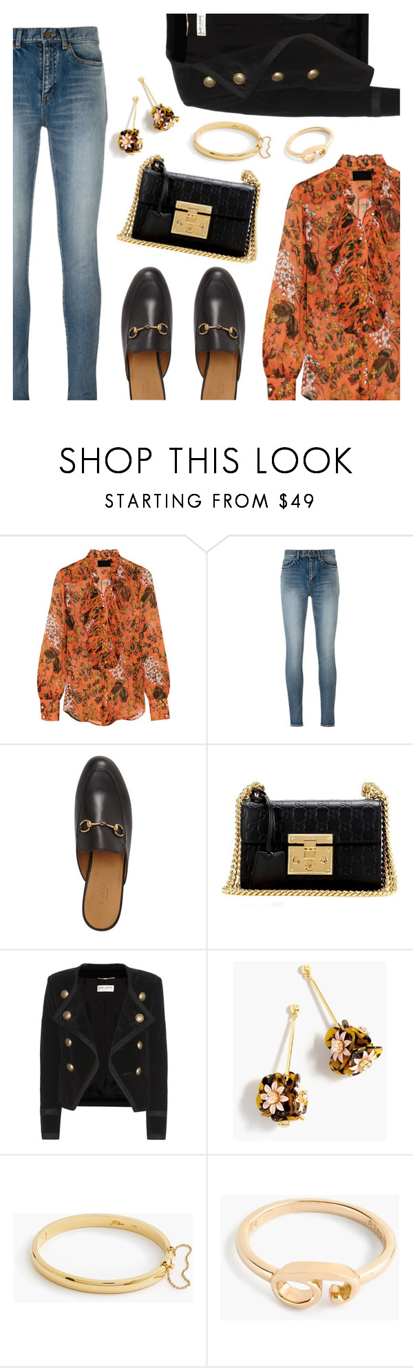 """Outfit of the Day 3"" by dressedbyrose ❤ liked on Polyvore featuring J.Crew, Yves Saint Laurent, Gucci, Lulu Frost, ootd and polyvoreeditorial"