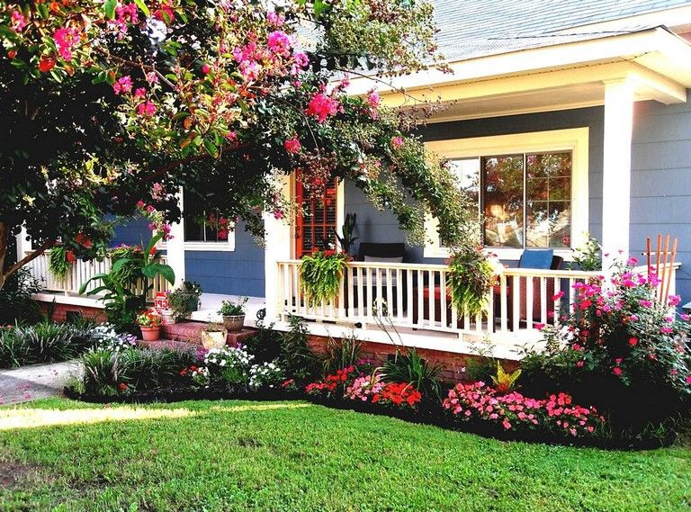 30 Beauty Flower Garden Design For Your Front Yard Porch