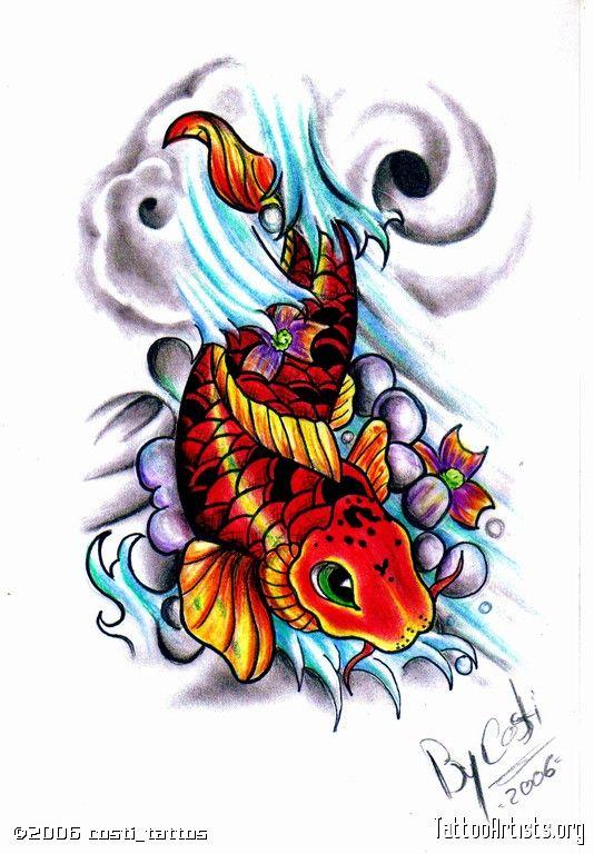 Magnoliajuegos Pez koi Dragon Koi Leyenda y Tattoo  Tatuajes