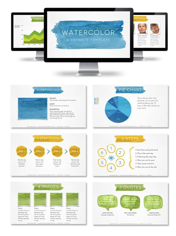 Watercolor Presentation Template - things like this male me wish I - art proposal template