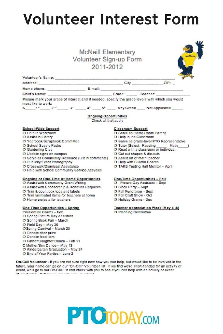 Ideas About Parent Volunteer Form On   Parent