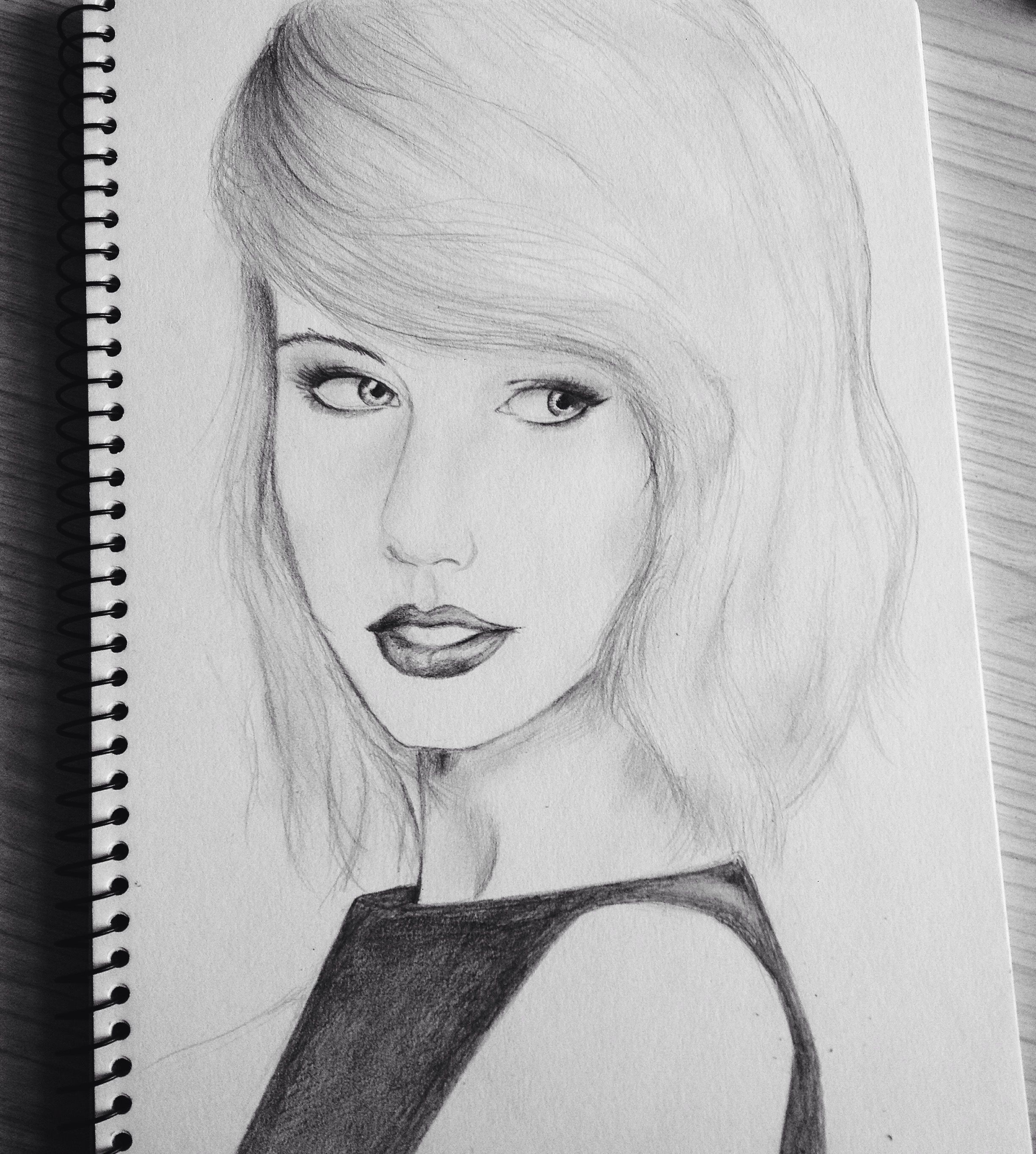 Taylorswift drawing sketchbook fashion pencildrawing my