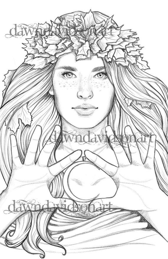 autumn coloring page printable colouring for adults