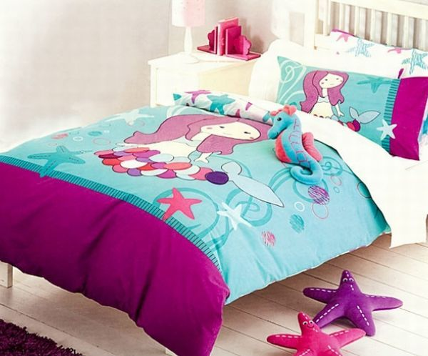 Adorable Little Mermaid Bedding Set for tiny tots. Adorable Little Mermaid Bedding Set for tiny tots   Decoist
