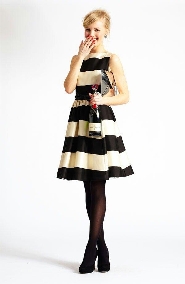 Black and white stripes....dress
