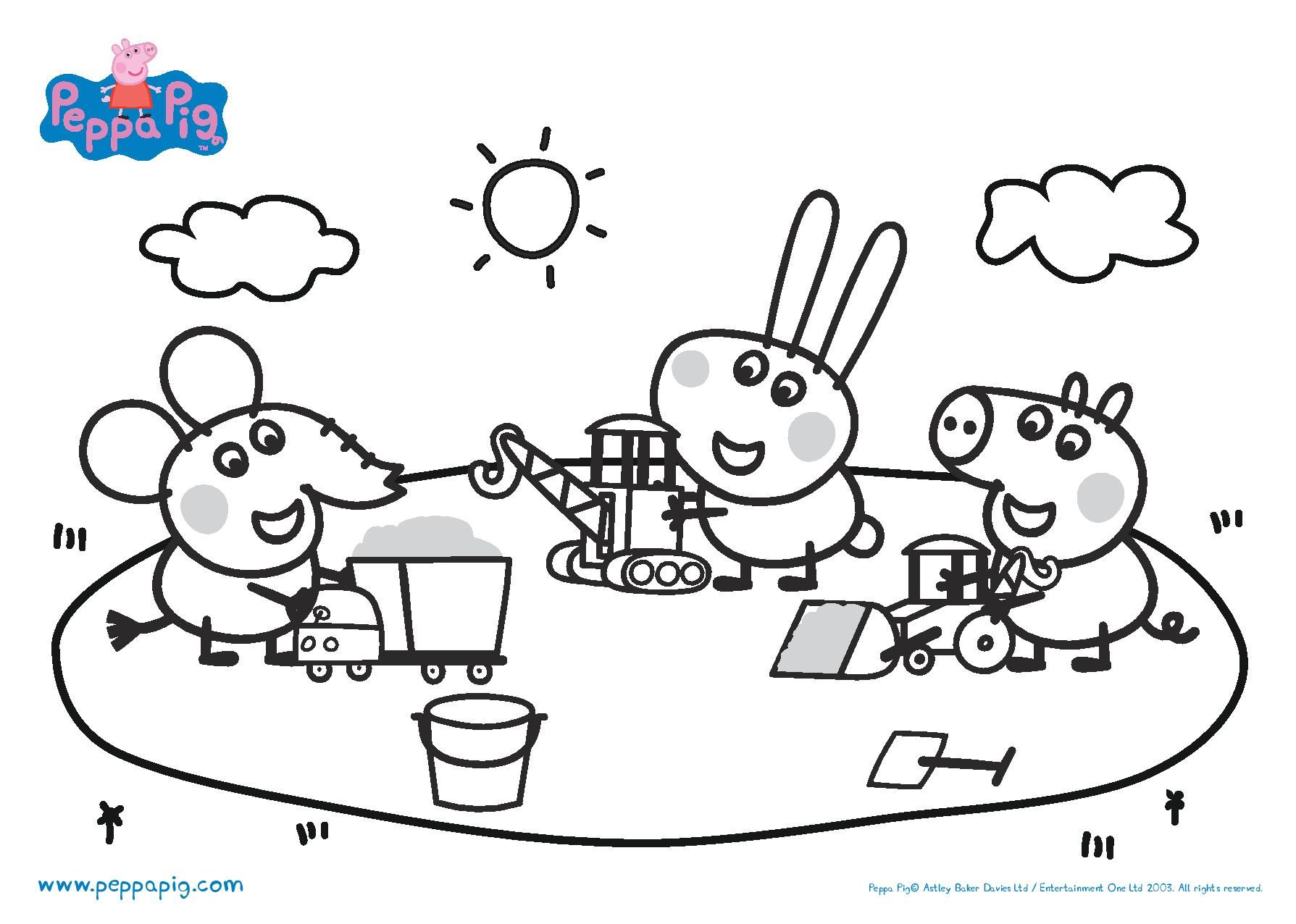 Świnka Peppa #9 - Kolorowanki  Peppa pig coloring pages, Peppa