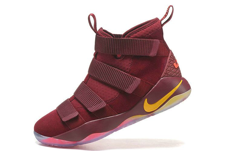 info for 20ad9 a981c Spring Summer 2018 Cheap Newest 2018 Nike Lebron Soldier 11 XI Cavs  Cleveland Cavaliers Burgundy Gold