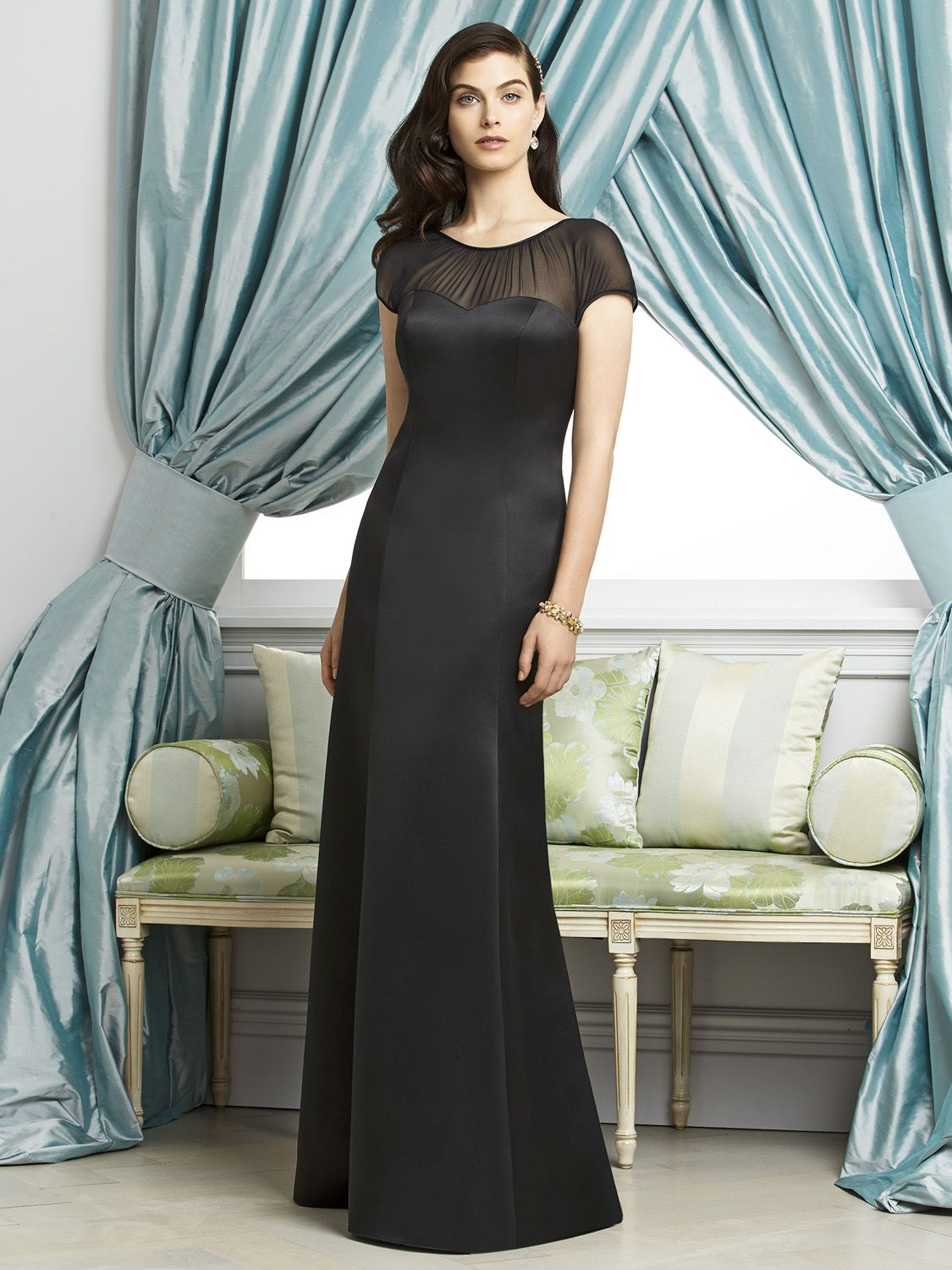 Dessy 2933 wedding hijack pinterest bridal boutique and wedding dessy 2933 bridesmaid dress dessy 2933 is a full length cap sleeve matte satin dress w sweetheart neckline sheer lux chiffon yoke has shirred jewel neck ombrellifo Image collections