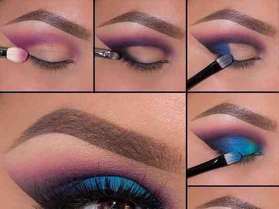 مكياج عيون ناعم بالخطوات والصور العيون الواسعة 16 Eye Makeup Pictures Purple Eye Makeup Eye Makeup