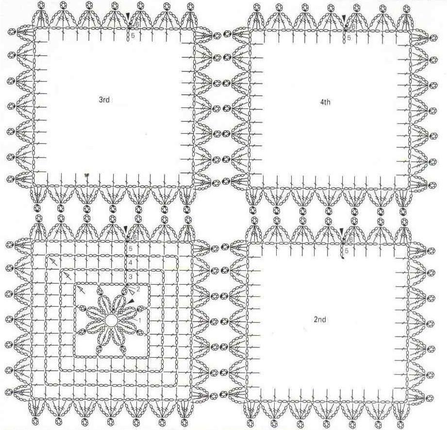 Chaleco-Tunica de Cuadrados de Crochet - Patrones Crochet | Puntos ...