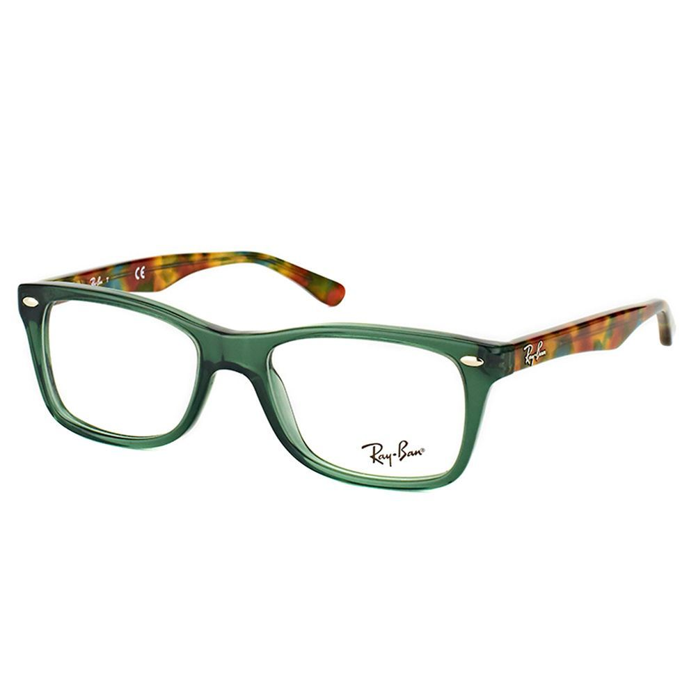 Ray-Ban RX 5228 5630 Opal Green Plastic Rectangle Eyeglasses
