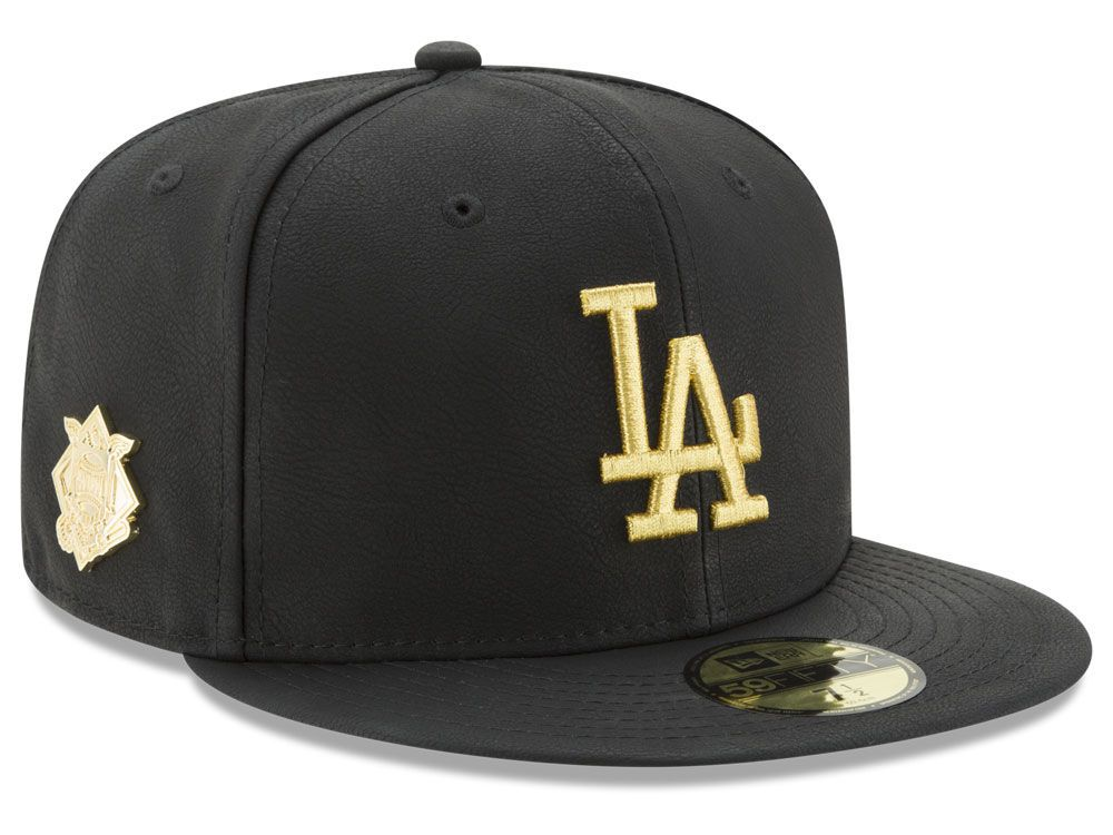 2c70f1d05a9 Los Angeles Dodgers New Era MLB The League Metallic Patch 59FIFTY ...