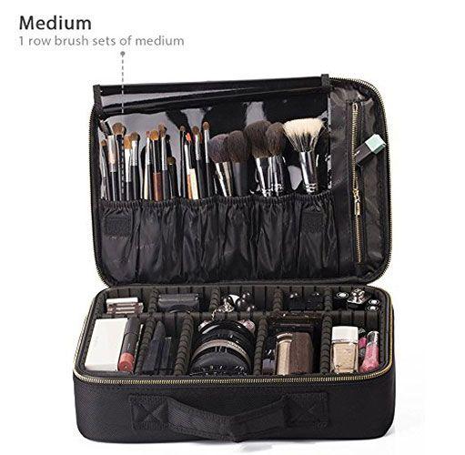 1aeb7e90e4f7 Best Makeup Bags For Organization: 1. ROWNYEON Portable EVA ...