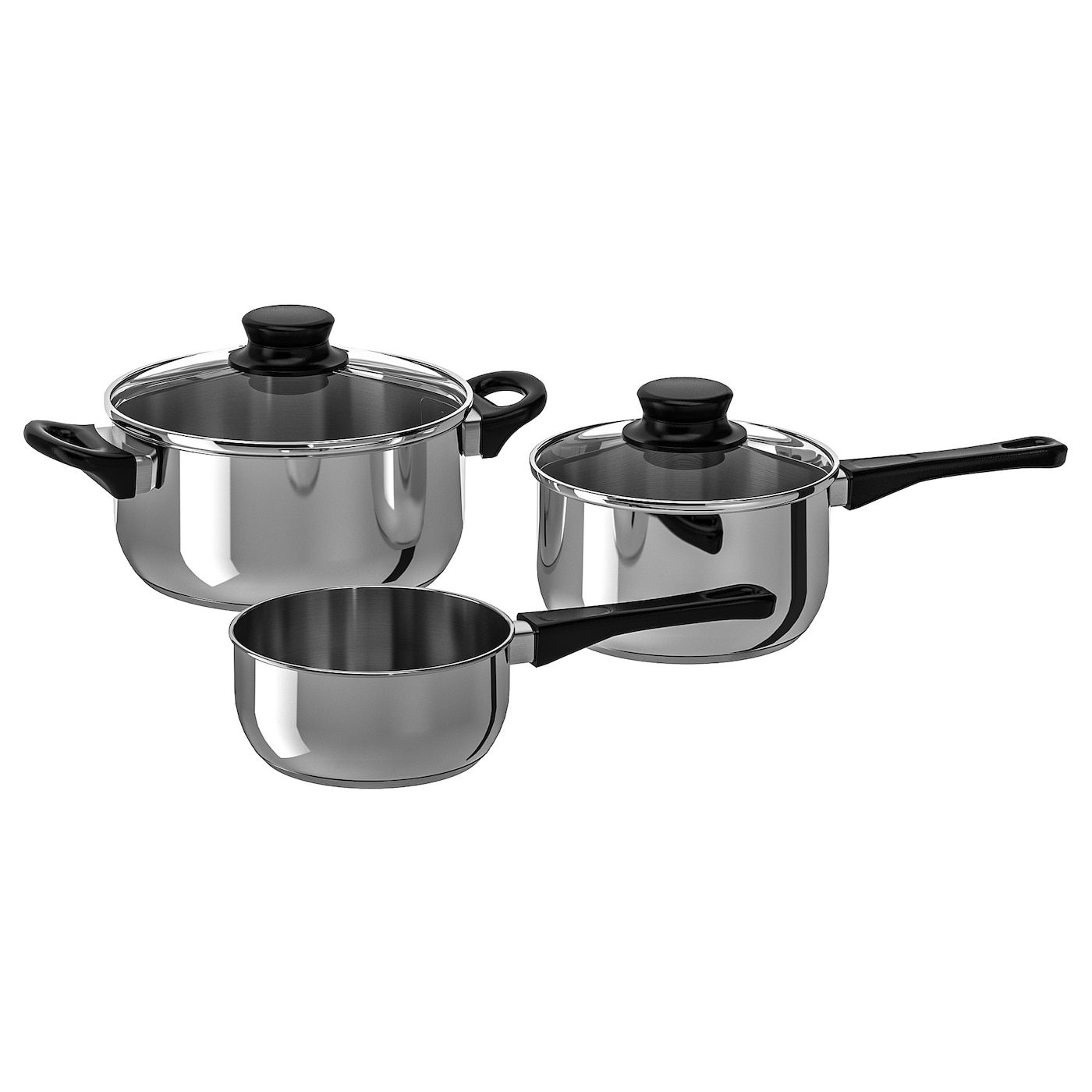 Annons 5 Piece Cookware Set Glass Stainless Steel In 2020