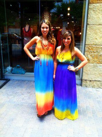 Maxi dresses full of color.