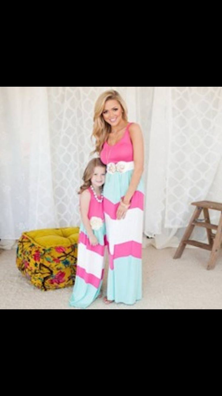 #Partnerlook Mutter & Tochter Outfit #Kleid Casual auf  www.krika.de
