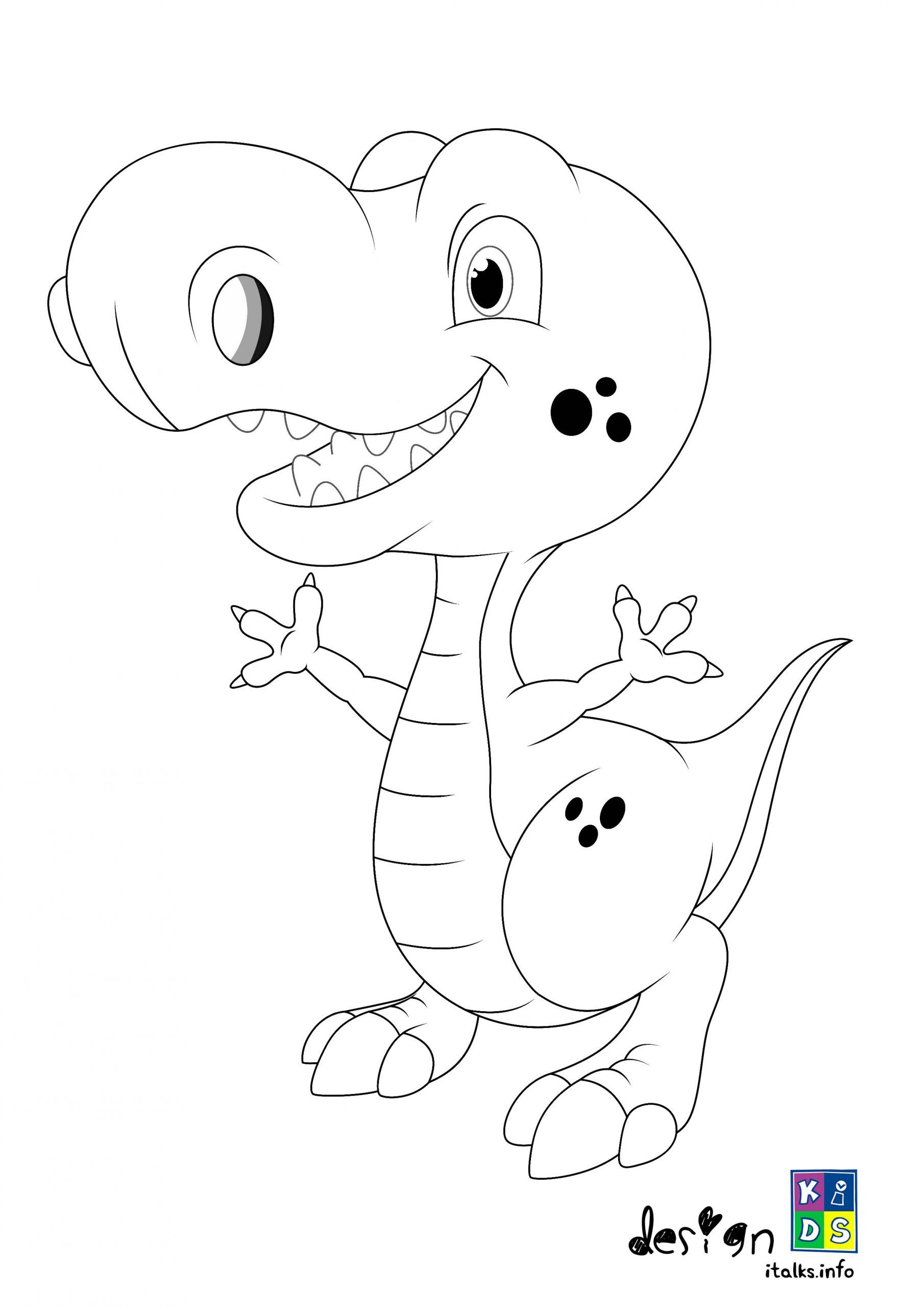 Printable Baby Trex Coloring Page For Kids In 2020 Coloring Pages Printables Kids Coloring Pages For Kids