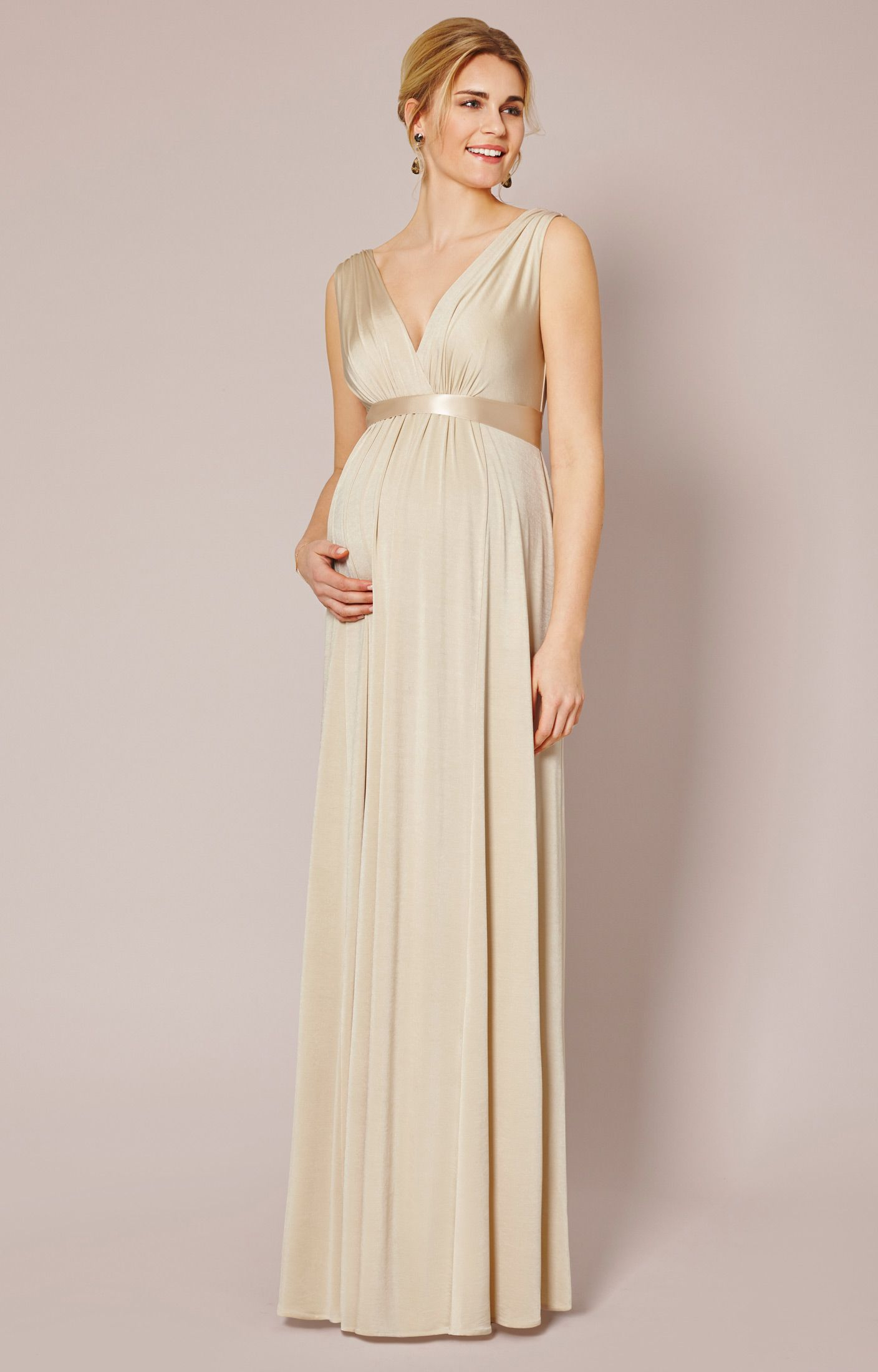 Anastasia gown long maternity gowns tiffany rose and maternity grecian goddess gorgeous our anastasia maternity gown now comes in precious gold dust for a spectacular occasion dress ombrellifo Image collections