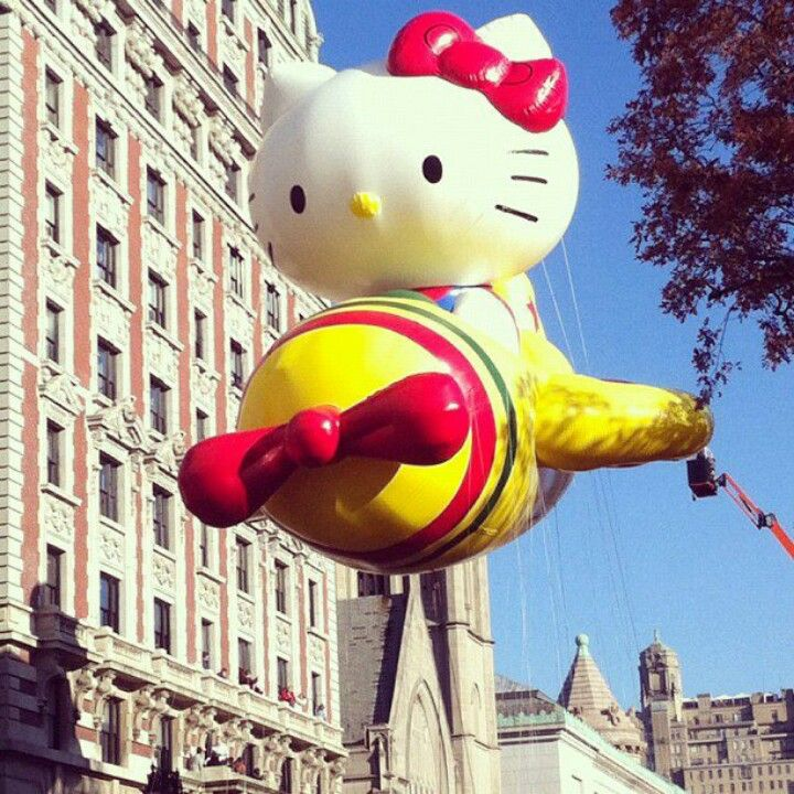 My daughters favorite part of the Macys Thanksgiving  day parade