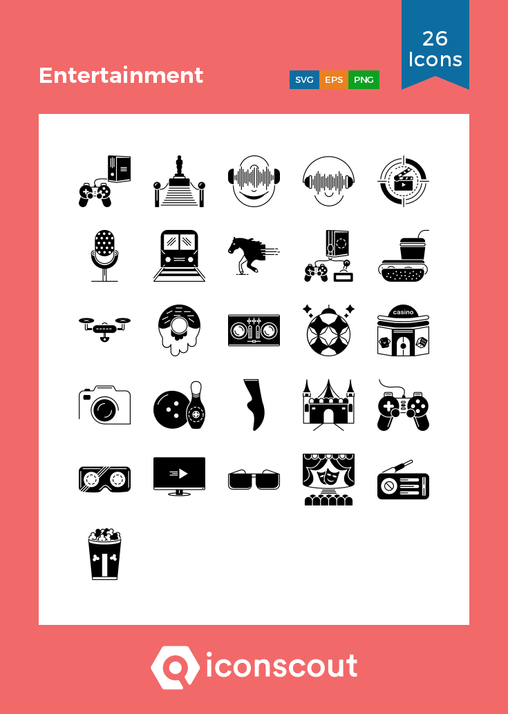 Download Entertainment Icon Pack Available In Svg Png Eps Ai Icon Fonts Icon Pack Glyph Icon Icon