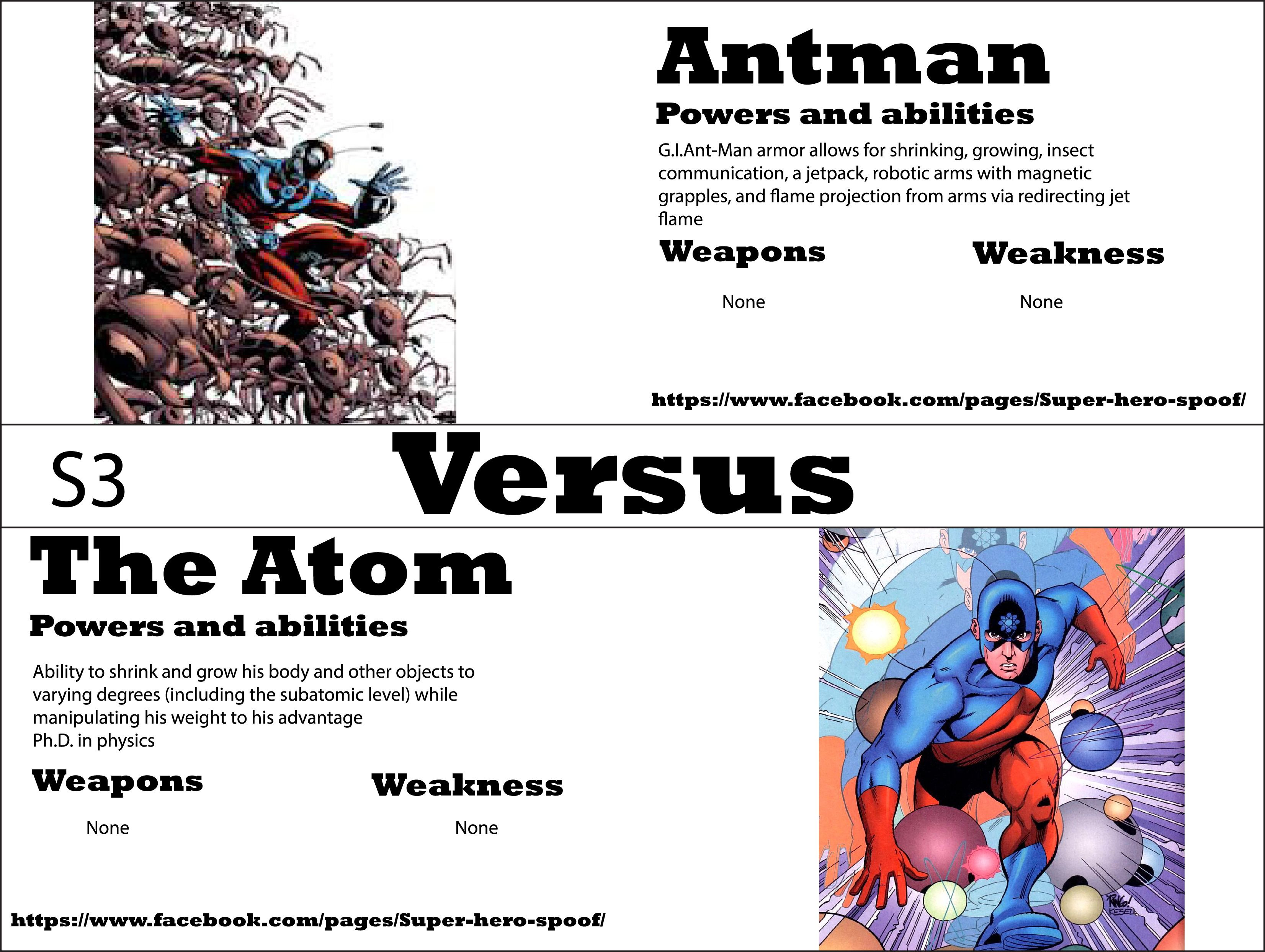 antman vs the atom who will win and why powers abilities antman vs the atom who will win and why powers abilities weaknesses and weapons are posted by super hero spoof
