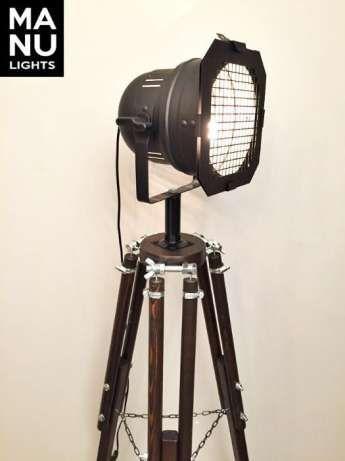 Lampa Podlogowa Stojaca Statyw Reflektor Loft Design Wenge Wroclaw Image 1 Lampy Lampa Podlogowa Design