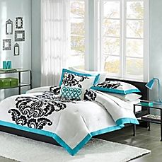 image of Mizone Florentine Comforter Set in Teal
