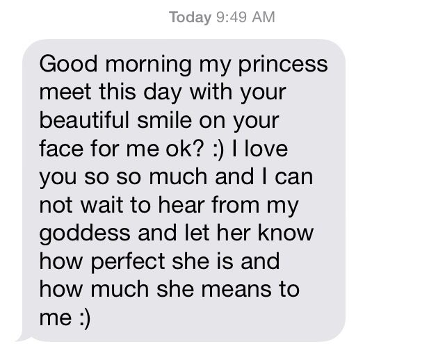 For her morning texts sweet good really 60+ Sweet