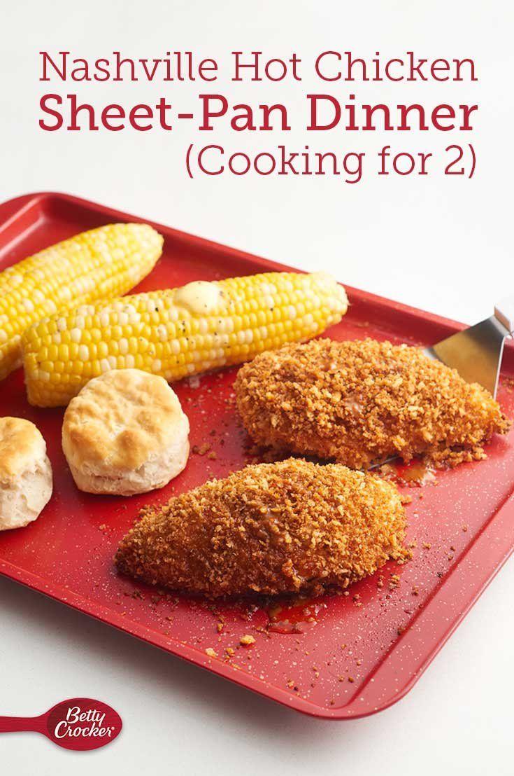 Nashville Hot Chicken Sheet-Pan Dinner (Cooking for 2) #onepandinnerschicken
