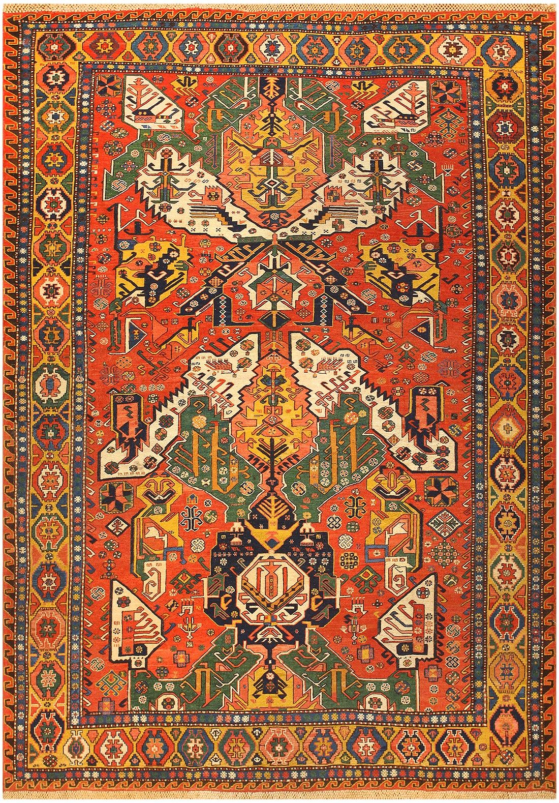 Antique Caucasian Soumak Rug 47273 Main Image - By Nazmiyal
