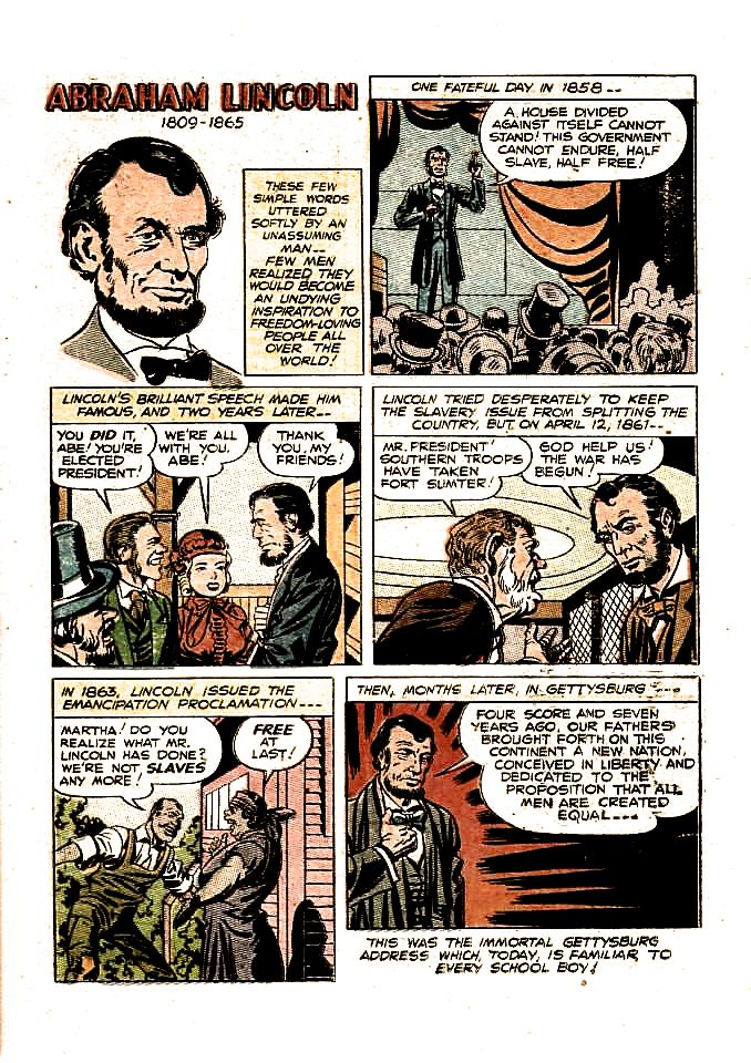 Highlights From The Lives Of 48 Famous Americans Abraham Lincoln