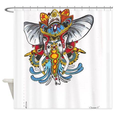 elephant Shower Curtain on CafePress.com