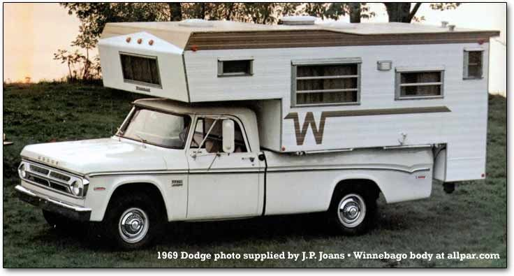 1969 Winnebago Pick Up Camper Slide In Camper